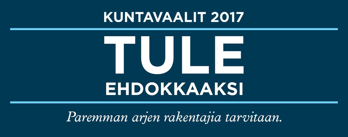 Tule kuntavaaliehdokkaaksi